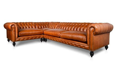 Cococo Home All Leather Sectionals Made In Usa Square Chesterfield Sofa