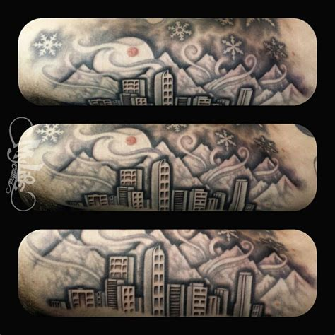 denver skyline tattoo the skyline of denver colorado tattooing anything