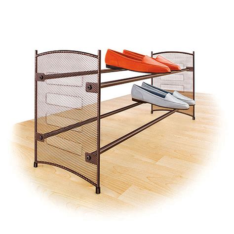 Walmart Shoe Racks by Lynk Stackable Expandable Shoe Rack Bronze Walmart