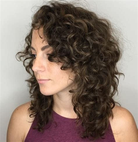 shoulder length layered natural curly haircuts with front and back pictures 55 styles and cuts for naturally curly hair in 2018