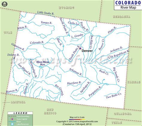 colorado in usa map colorado rivers map rivers in colorado