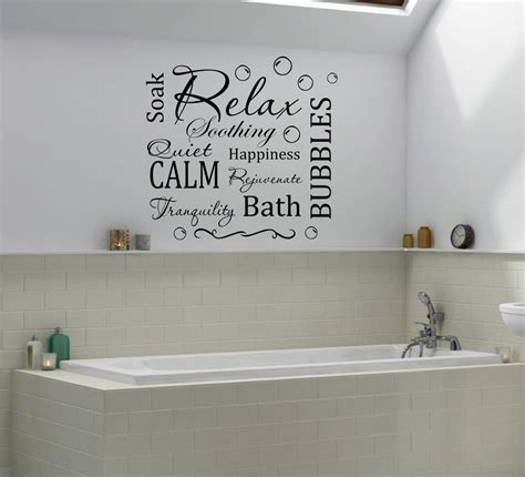 Bathroom Wall Appliques - relax calm bathroom bubbles wall quote decal wall decals