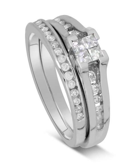 0 50 carat precious princess cut bridal set