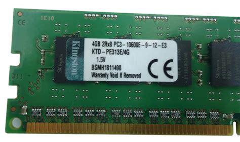 Ram 4gb memoria ram 4gb ecc servidor hp dell pc3 10600e 9 12 e3