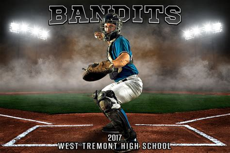 Player Team Banner Sports Photo Template Up In Smoke Baseball Photoshop Sports Template Baseball Photo Templates Photoshop