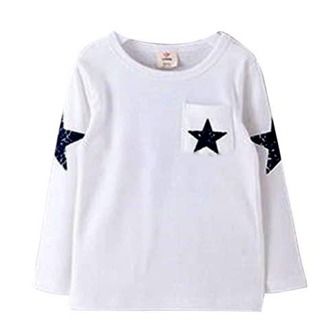 pattern for toddler t shirt kids boy toddler baby star pattern long sleeve tops t