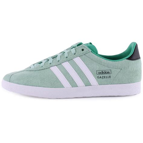 adidas gazelle light adidas gazelle og womens suede trainers in light green