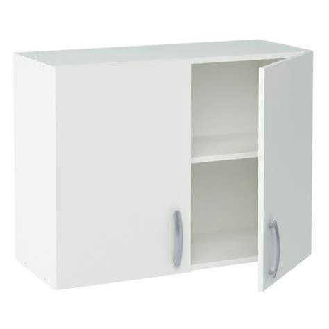 meuble d 騅ier de cuisine meuble de cuisine blanc haut 2 portes dya shopping fr