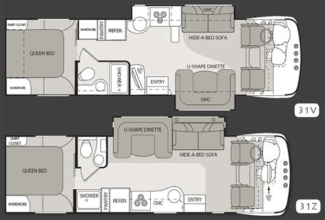 class a floor plans class b rv floor plans pictures to pin on pinterest page 7