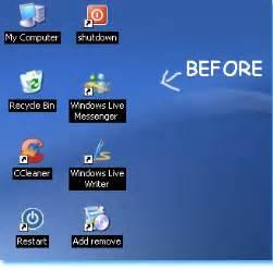Small Desktop Icons Xp Prjalabloggertricks Change Xp Desktop Icons Into A Tidy