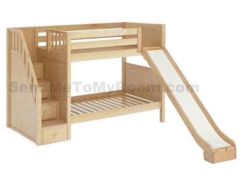Bunk Bed With Slides Stellar Medium Bunk Bed With Slide And Staircase Boys Room Bunk Bed Staircases