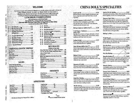 china doll 11208 china doll menu menu world