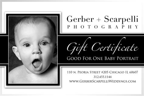 Orange2photo Baby Session Gift Certificates Gift Certificate For Photography Session Templates