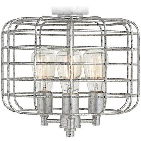 industrial ceiling fan light kit industrial cage galvanized steel ceiling fan light kit