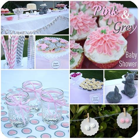 pink and gray baby shower ideas ideas