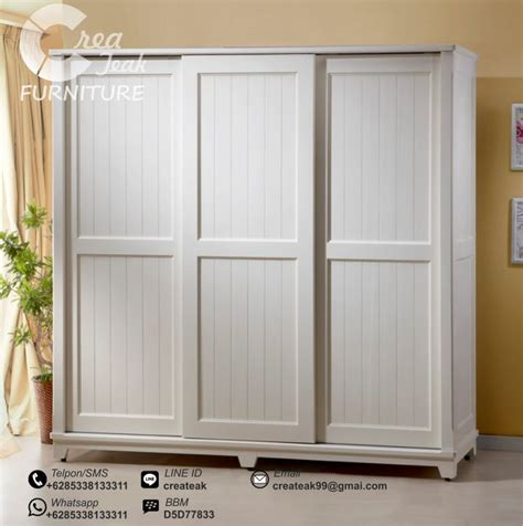 Rak Baju Olympic lemari baju vintage sliding 3 pintu createak furniture createak furniture
