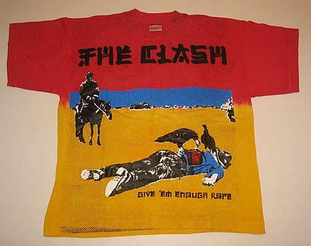 Promo T Shirt Distro Gshop Cotton Combad 7 the clash give em enough rope uk t shirt 367110