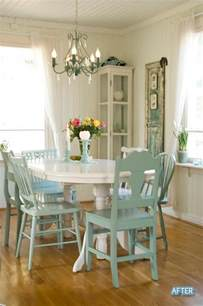 Painted Dining Room Furniture A Different Drum Spray Painting Chairs