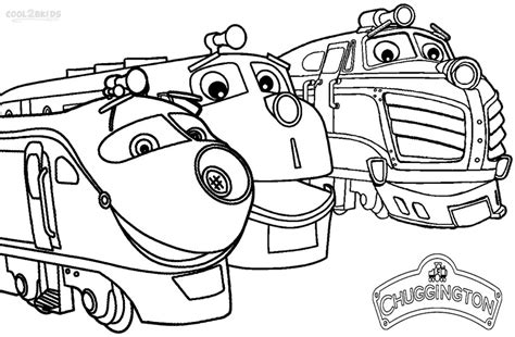 printable chuggington coloring pages for cool2bkids