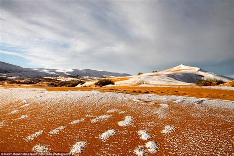 sahara desert snow snow covers parts of the sahara desert for third time in 40 years