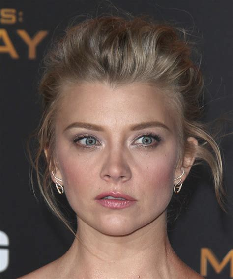 Natalie Dormer Hair by Natalie Dormer Formal Wavy Updo Hairstyle Ash