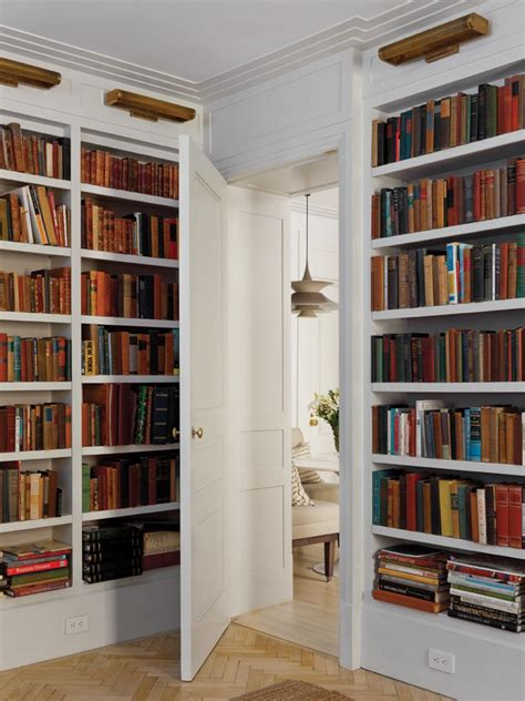 Home Library Shelves | white home library with built in bookcases photos diy