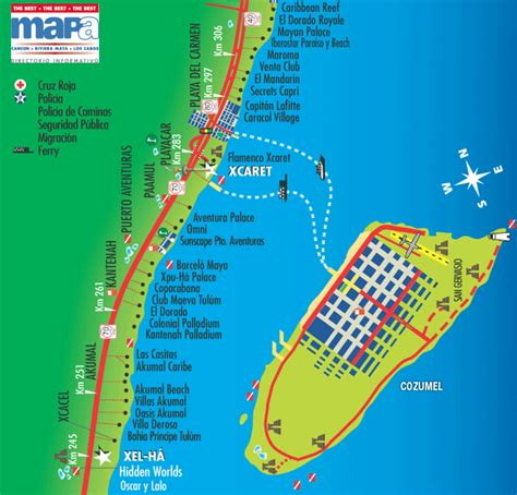 map of mexico cancun and cozumel map of mexico cancun and cozumel mexico map
