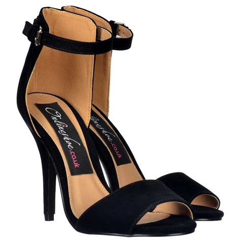 Brenda Open Toe Back Heels onlineshoe peep toe mid heels high back strappy sandals