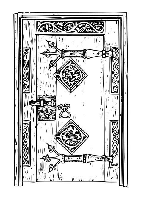 porta da colorare disegno da colorare porta antica cat 18667