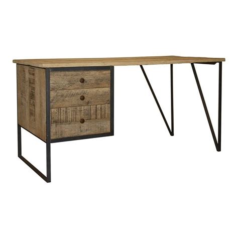 cfc reclaimed metal wood desk