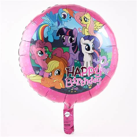 Balon Foil Pony Pink my pony happy birthday foil helium balloon card