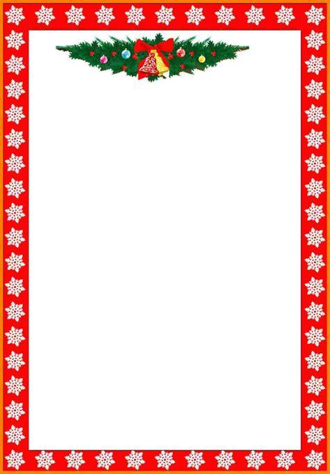 christmas letterhead templates word letter flat
