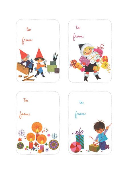 printable retro gift tags 24 adorable free gift tags you can print right now
