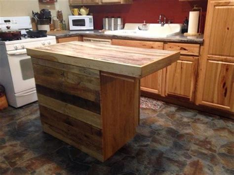 build kitchen island table recycled pallet kitchen island recycled pallet ideas