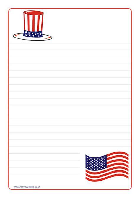 patriotic stationery printable 6 best images of patriotic writing paper printable