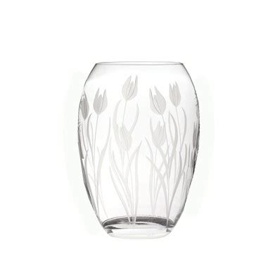 Royal Doulton Crystal Vase Prices Havens Royal Scot Crystal Glass Wild Tulip Floral Cut
