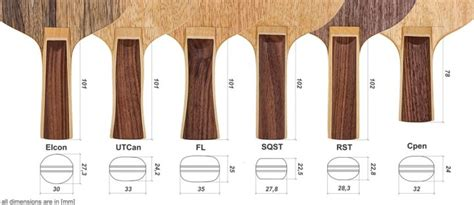 blade types all wood table tennis blades table tennis handle types