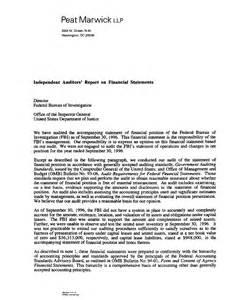 Sample Financial Audit Report Audit Report 97 29a