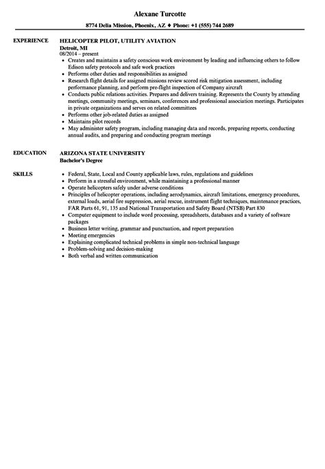 excellent helicopter pilot resume exles photos resume