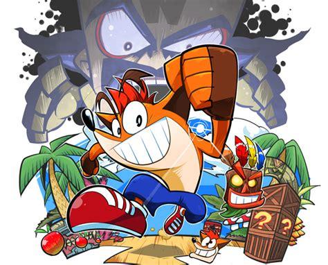 crash bandicoot game series fan artwork