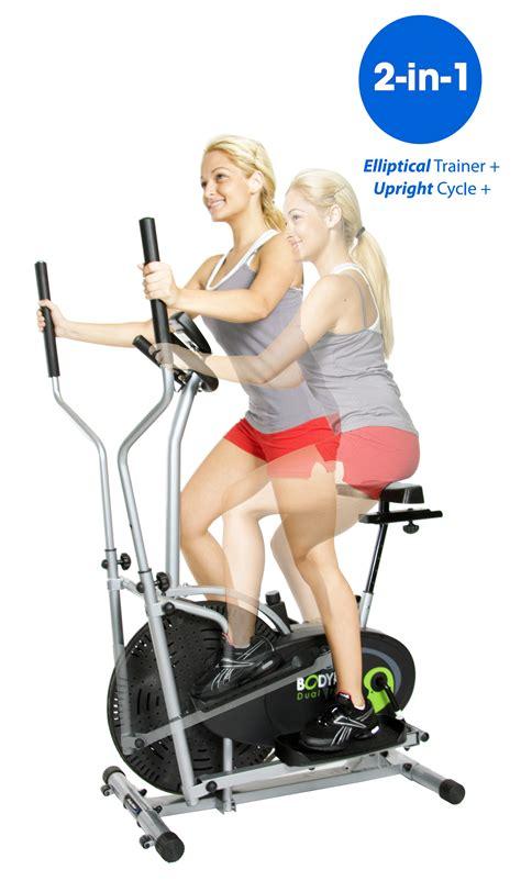goplus 2 in 1 elliptical fan bike body rider 2 in 1 cardio dual trainer