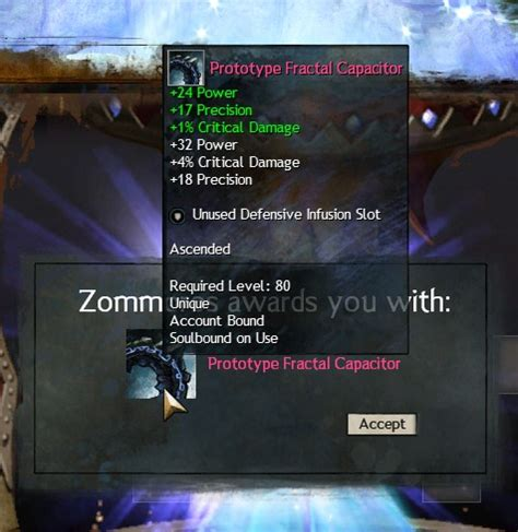 gw2 prototype fractal capacitor gw2 ascended gear and infusion recipes dulfy