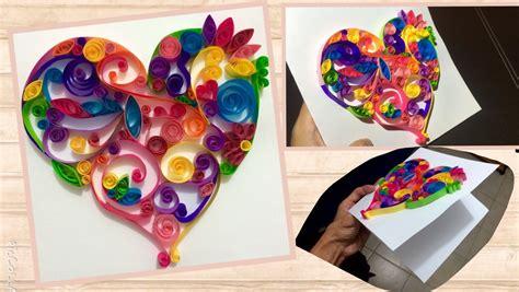paperpop tarjetas de amor tarjeta de coraz 211 n muy colorido ideas para novios youtube