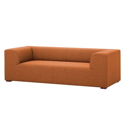couch seed sofa seed 3 sitzer webstoff stoff milan rostbraun
