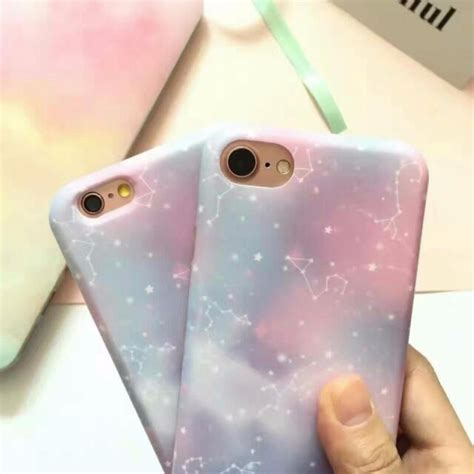Air Blue Casing Hp Hardcase For Oppo Series cool tone pastel galaxy style silicon silicone soft shell