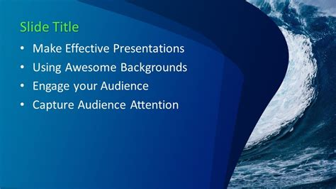 big wave powerpoint template  powerpoint templates