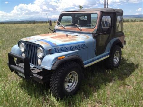 Jeep 6 Cylinder Buy Used 1981 Jeep Cj5 Renegade 6 Cylinder 4 Speed