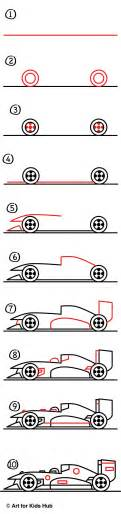 How To Make Cars With Paper Step By Step - how to draw a race car for hub