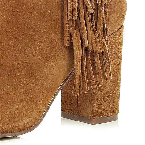 river island brown wide leg fit fringe knee high boots