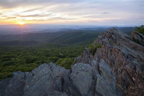 hiking to a breathtaking virginia sunrise